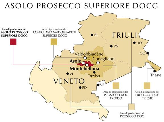 prosecco doc docg map asolo