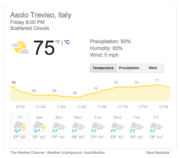 weather forecast northern italy